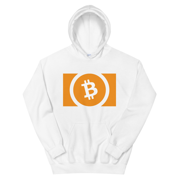 Bitcoin Cash Hooded Sweatshirt White S - zeroconfs