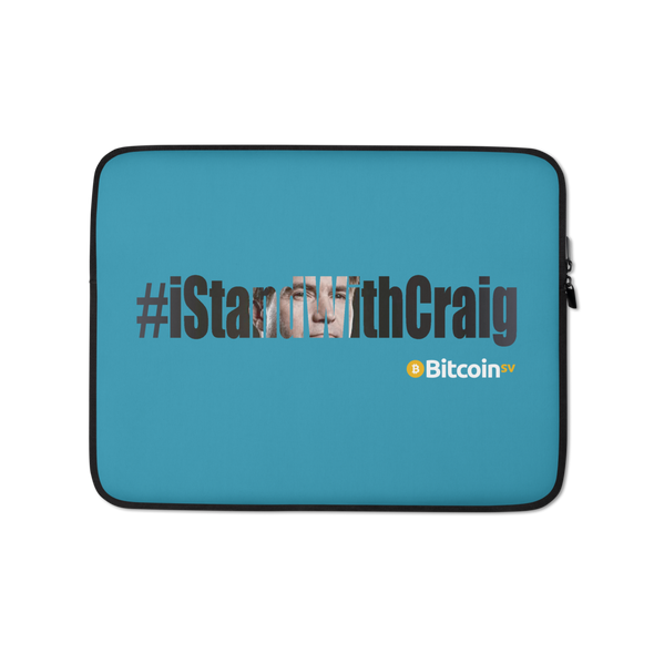 #IStandWithCraig Bitcoin SV Laptop Sleeve Blue 13 in  - zeroconfs