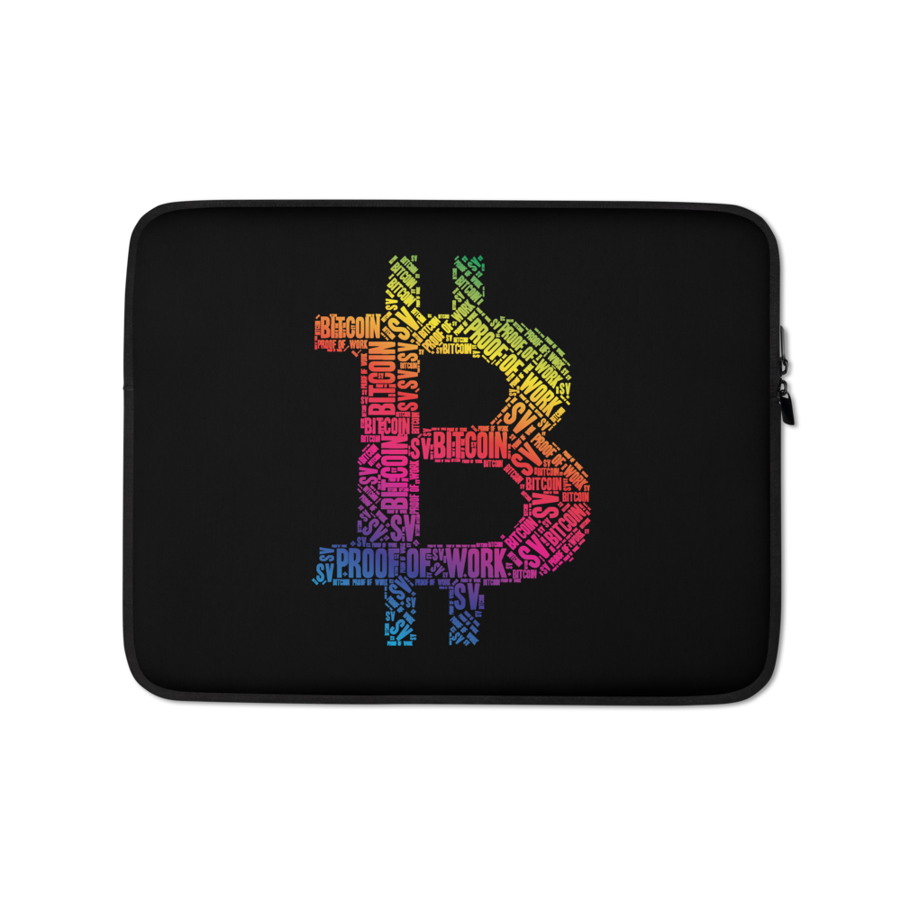 Bitcoin SV Proof Of Work Laptop Sleeve 13 in  - zeroconfs