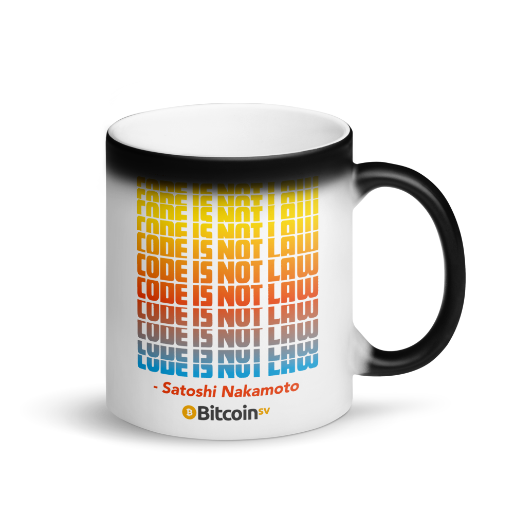 Code Is Not Law Bitcoin SV Magic Mug Default Title  - zeroconfs