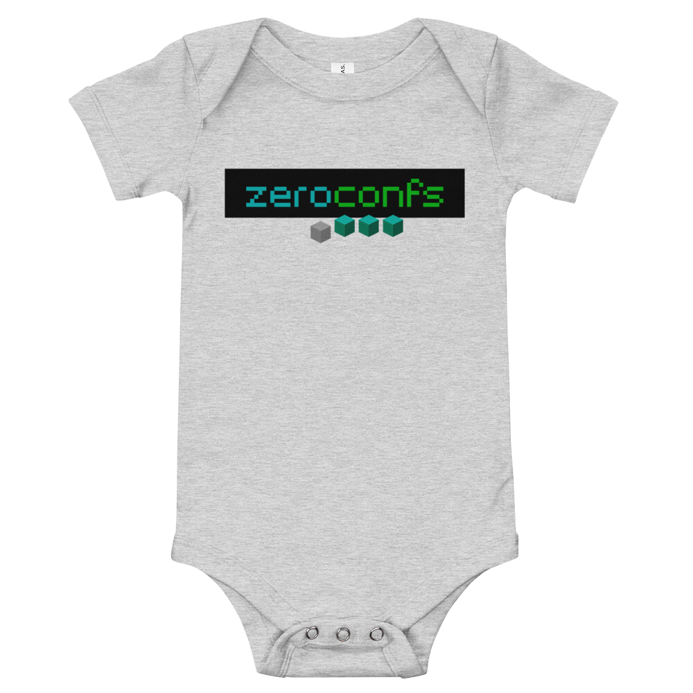 Zeroconfs.com Baby Bodysuit Athletic Heather 3-6m - zeroconfs