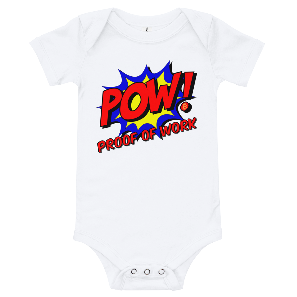 Proof Of Work Bitcoin SV Baby Bodysuit White 3-6m - zeroconfs