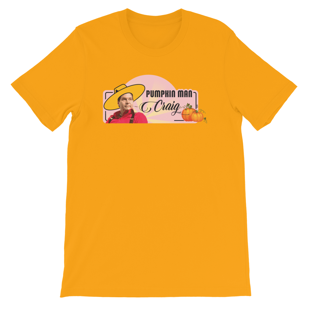 Pumpkin Man Craig Short-Sleeve T-Shirt Gold S - zeroconfs