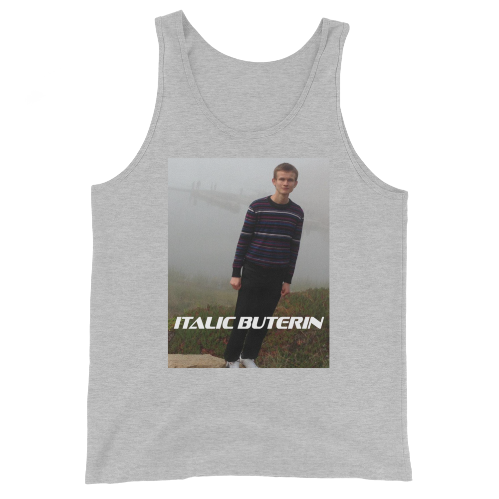 Italic Buterin Ethereum Tank Top Athletic Heather XS - zeroconfs