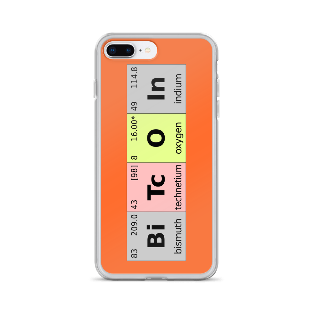 Bitcoin Periodic Table iPhone Case iPhone 7 Plus/8 Plus  - zeroconfs