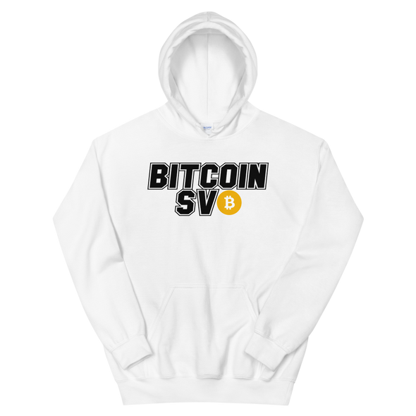 Bitcoin SV Sports Hooded Sweatshirt White S - zeroconfs