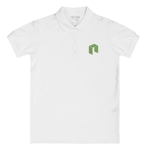NEO Embroidered Women's Polo Shirt White S - zeroconfs