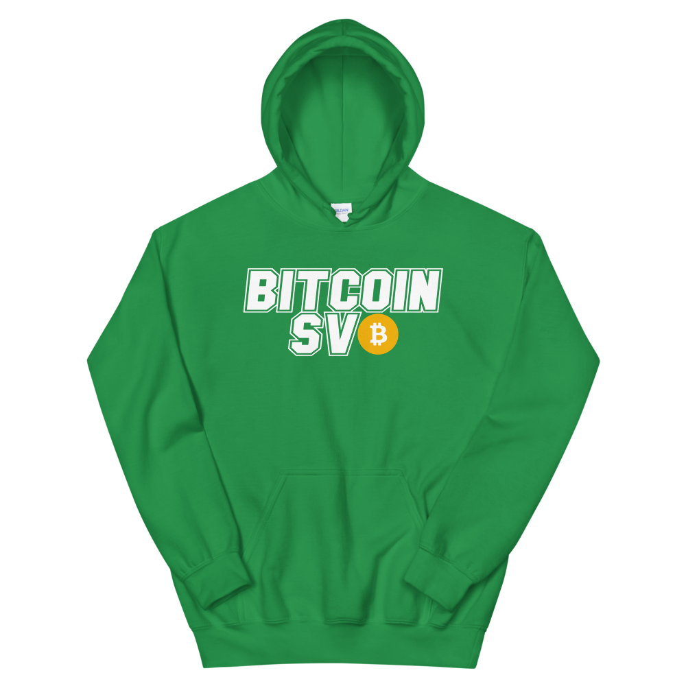 Bitcoin SV Sports Hooded Sweatshirt Irish Green S - zeroconfs