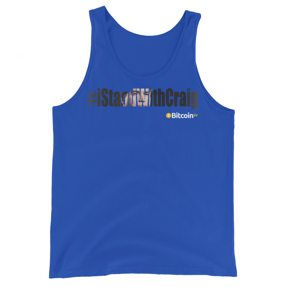 #IStandWithCraig Bitcoin SV Tank Top True Royal XS - zeroconfs