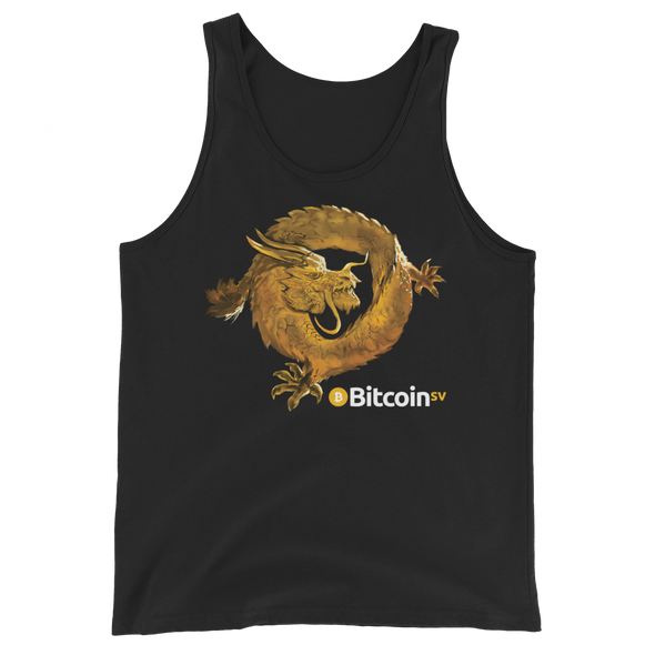 Bitcoin SV Woken Dragon Tank Top Black XS - zeroconfs