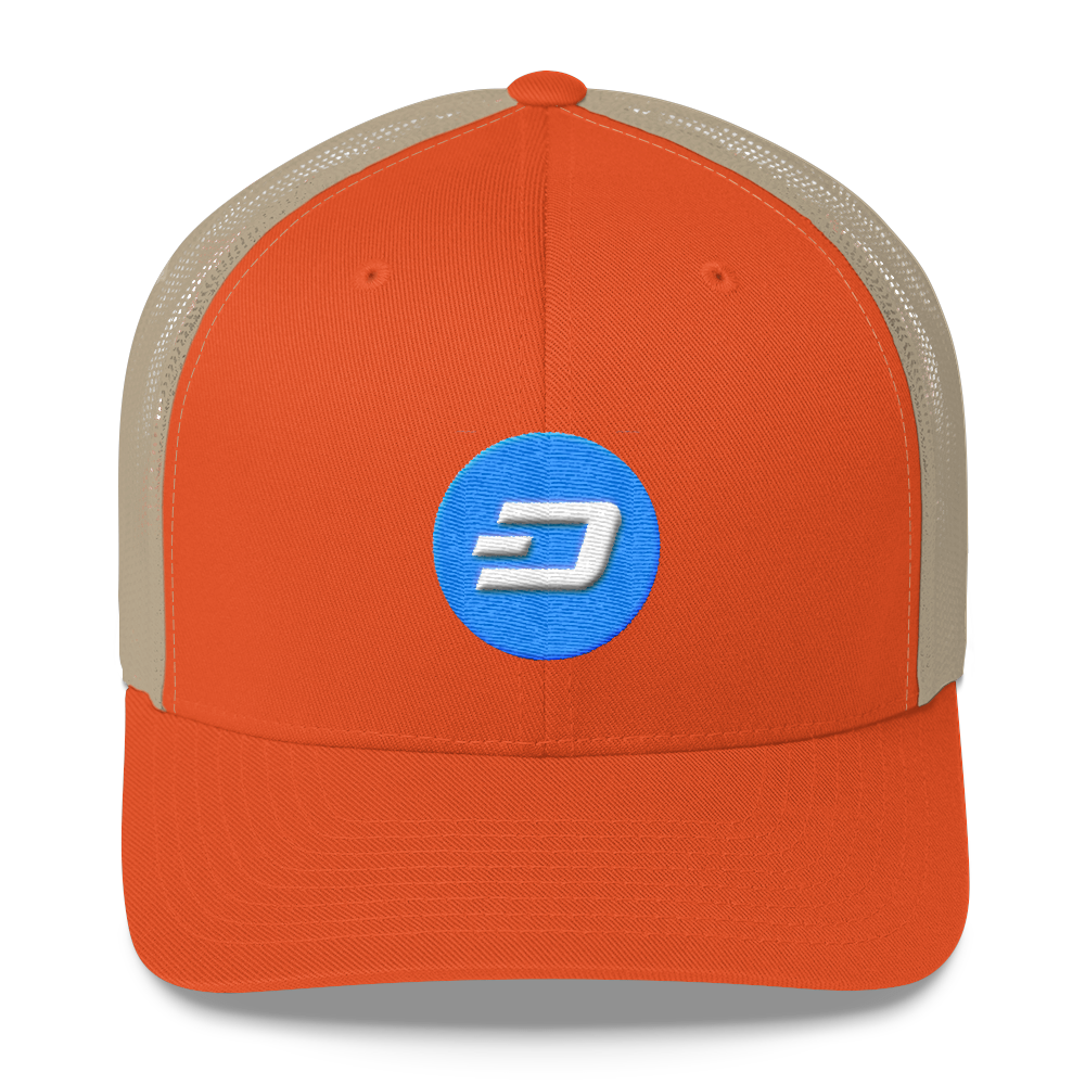 Dash Trucker Cap Rustic Orange/ Khaki  - zeroconfs