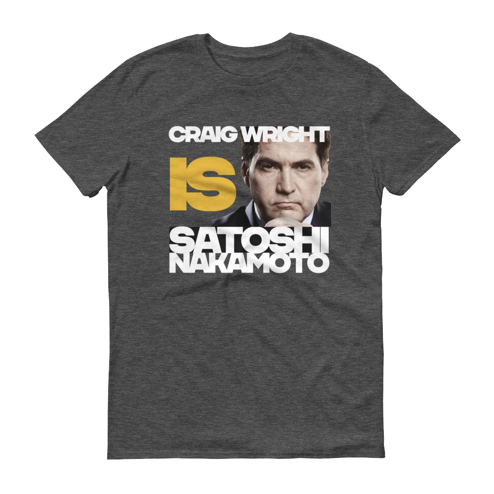 Craig Is Satoshi Short-Sleeve T-Shirt Heather Dark Grey S - zeroconfs