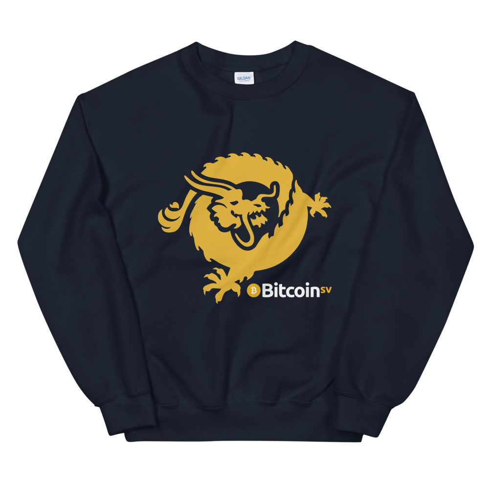 Bitcoin SV Dragon Sweatshirt Navy S - zeroconfs