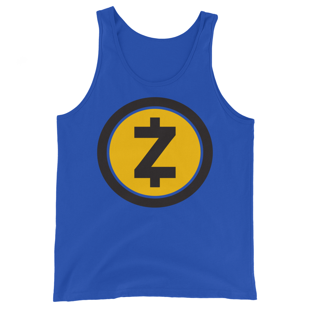 Zcash Tank Top True Royal XS - zeroconfs