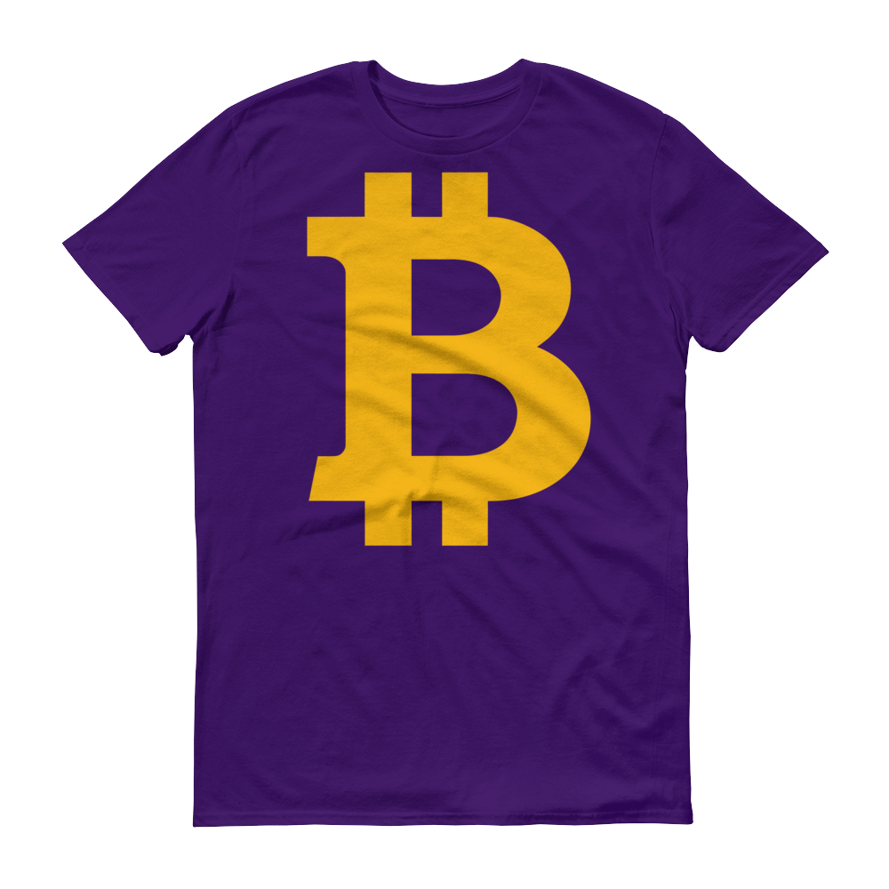 Bitcoin B Short-Sleeve T-Shirt Purple S - zeroconfs
