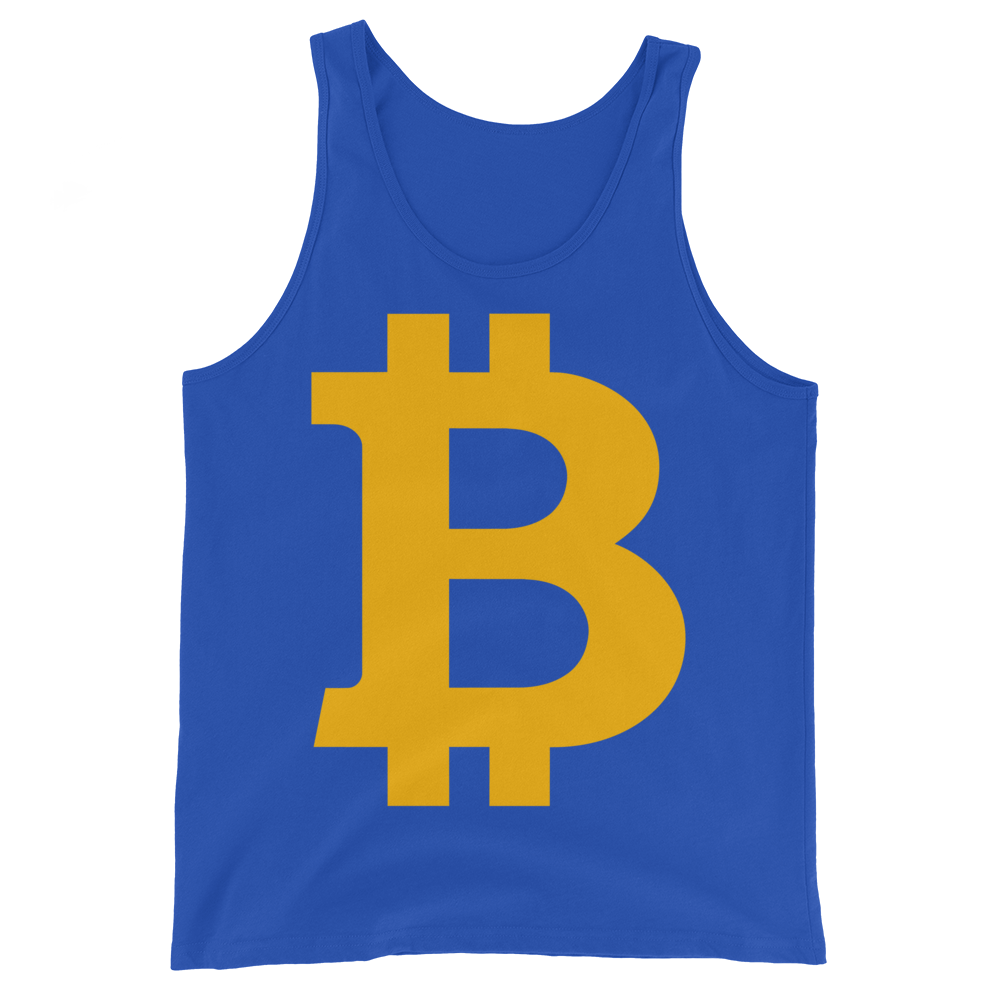 Bitcoin B Tank Top True Royal XS - zeroconfs