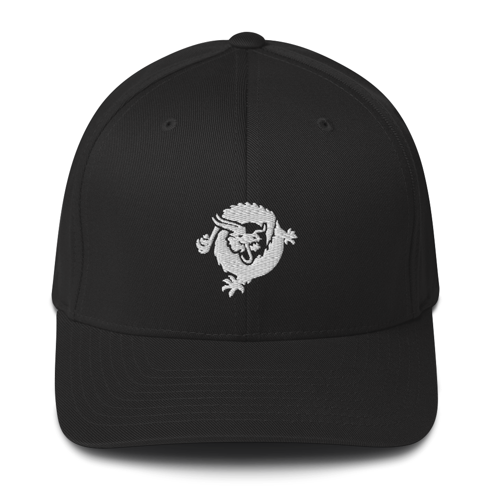 Bitcoin SV Dragon Flexfit Cap White Black S/M - zeroconfs