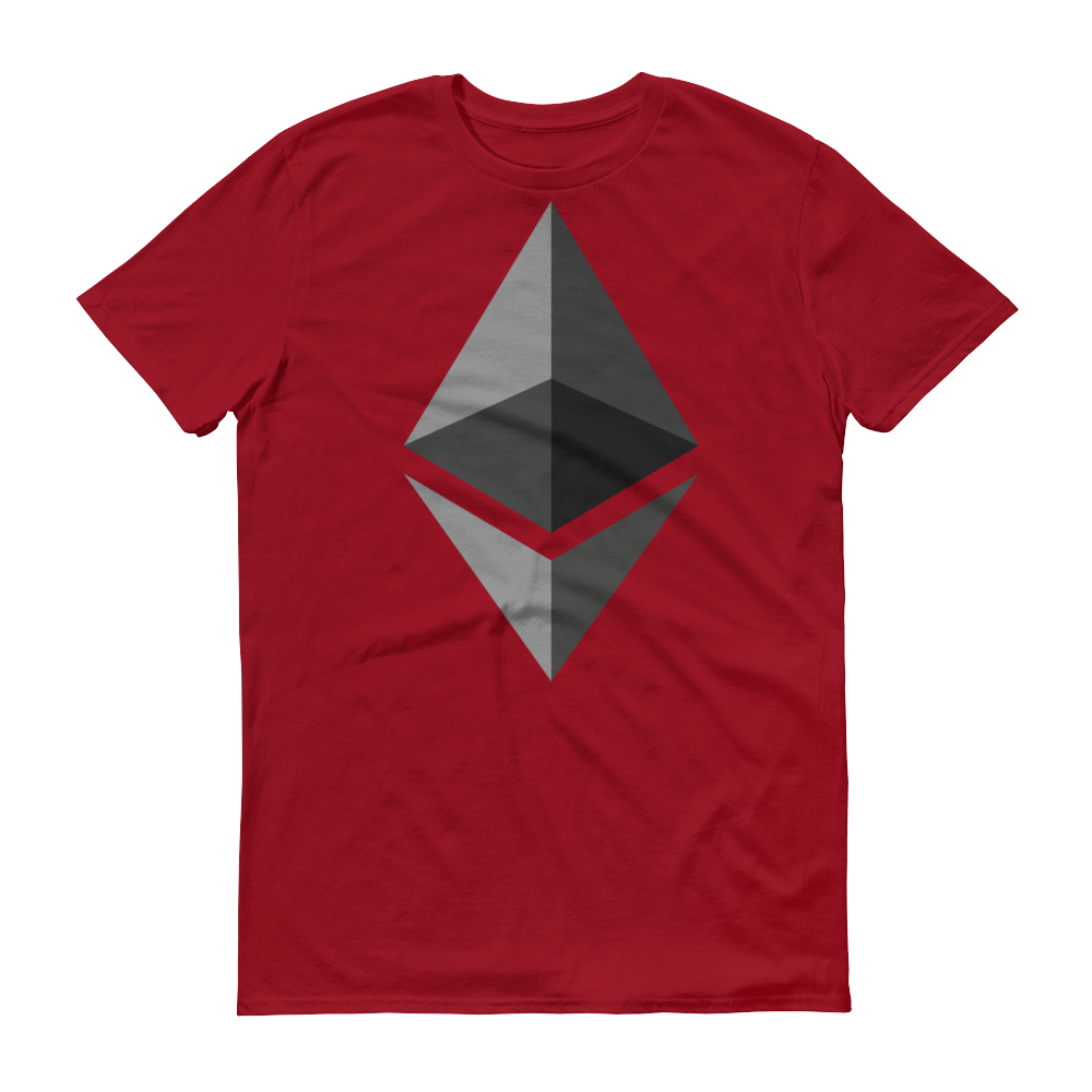 Ethereum Short-Sleeve T-Shirt Independence Red S - zeroconfs