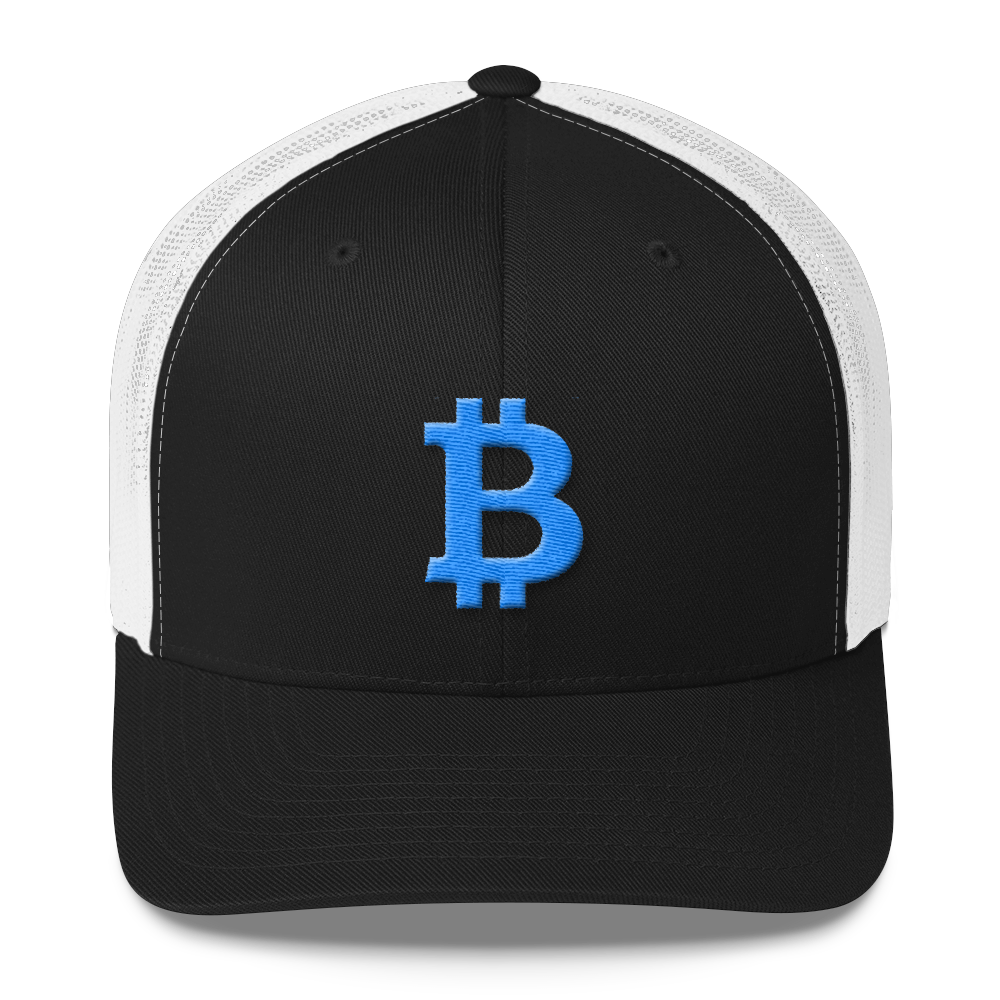 Bitcoin B Trucker Cap Teal Black/ White  - zeroconfs