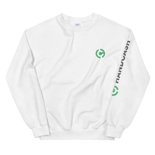 HandCash Official Licensed Women's Sweatshirt White S - zeroconfs