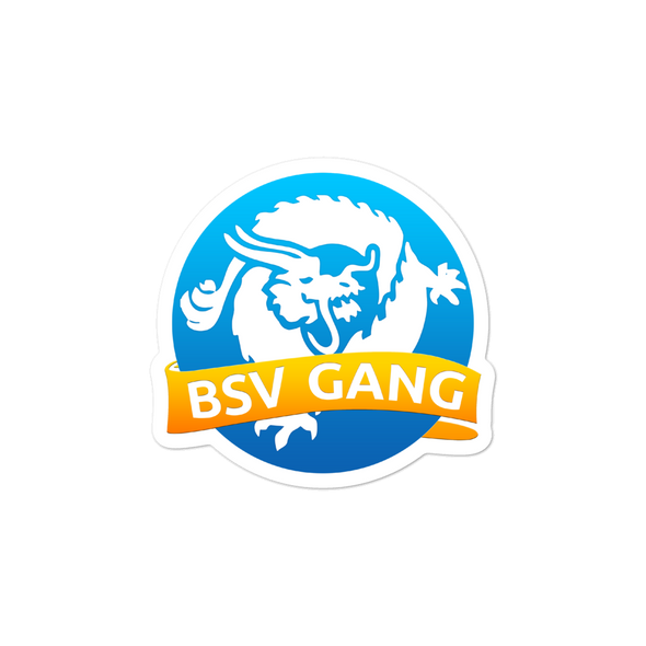 Bitcoin SV Gang Bubble-Free Vinyl Stickers 3x3  - zeroconfs