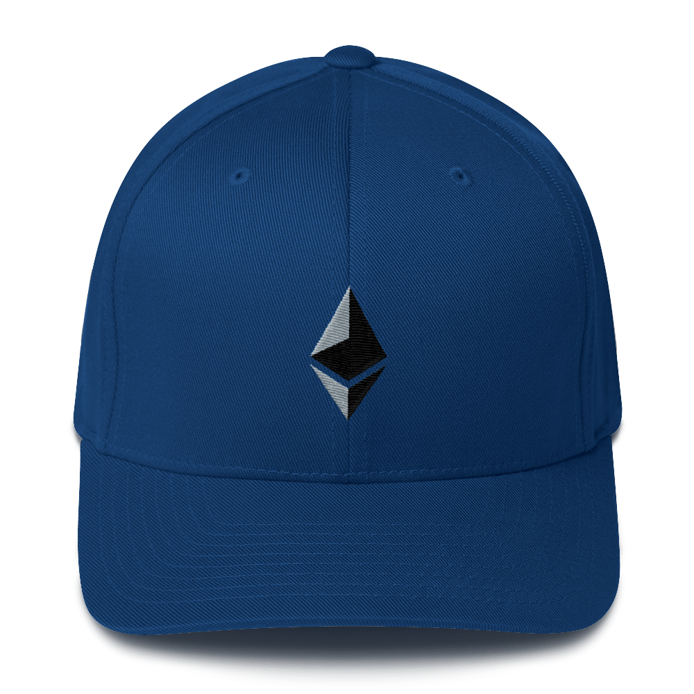 Ethereum Flexfit Cap Royal Blue S/M - zeroconfs