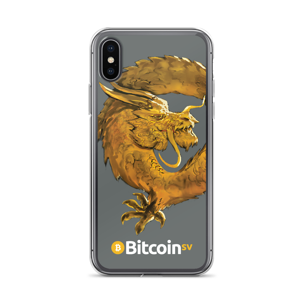 Bitcoin SV Woken Dragon iPhone Case Gray iPhone X/XS  - zeroconfs
