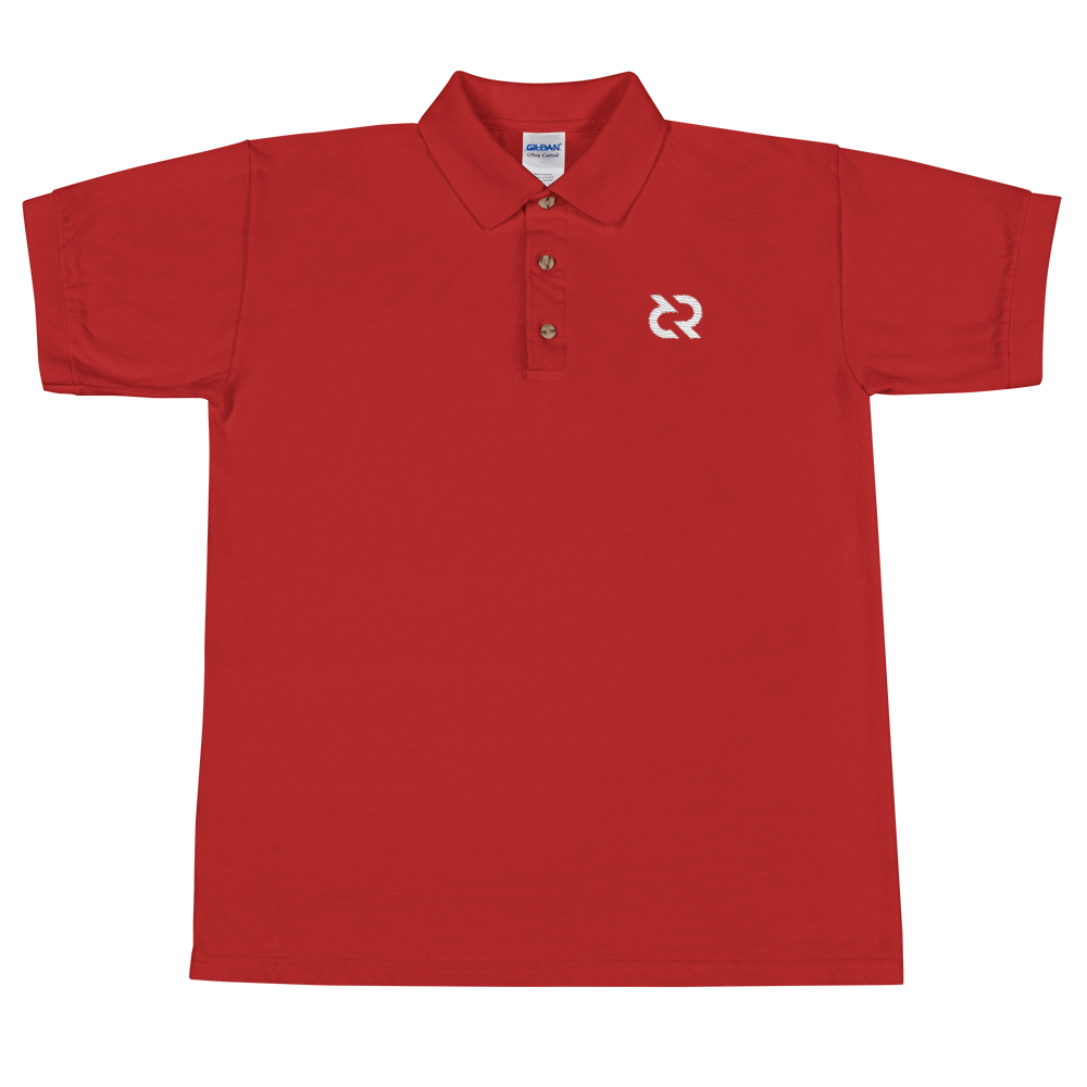 Decred Embroidered Polo Shirt Red S - zeroconfs