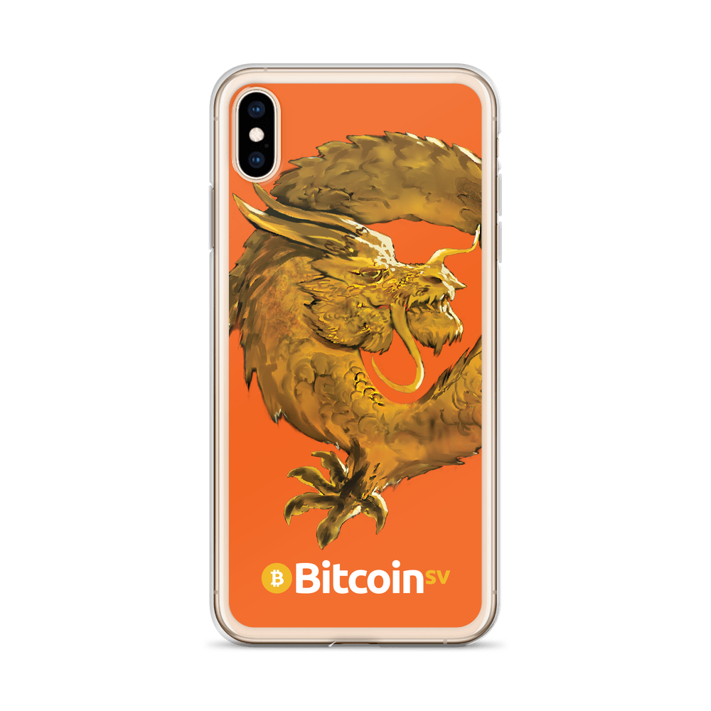 Bitcoin SV Woken Dragon iPhone Case Orange   - zeroconfs