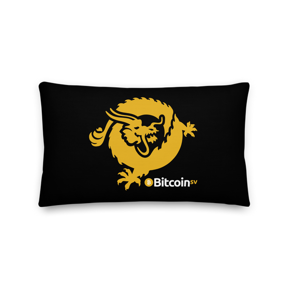 Bitcoin SV Dragon Premium Pillow 20×12  - zeroconfs