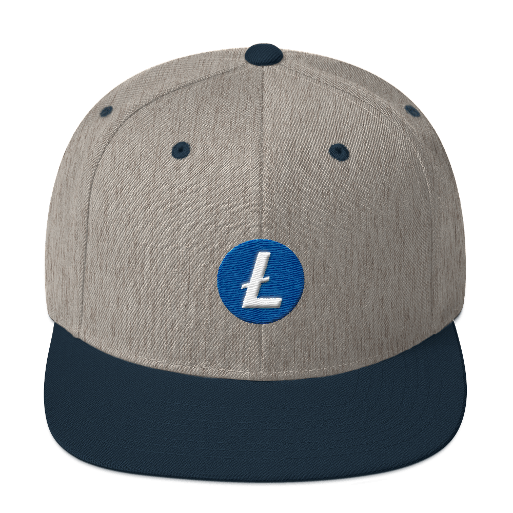Litecoin Snapback Hat Heather Grey/ Navy  - zeroconfs