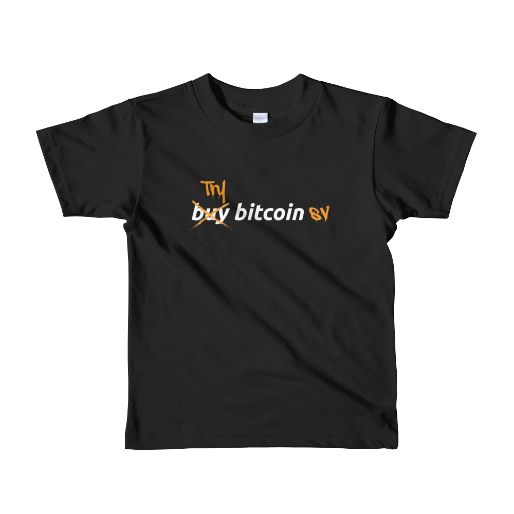 Try Bitcoin SV Short Sleeve Kids T-Shirt Black 2yrs - zeroconfs