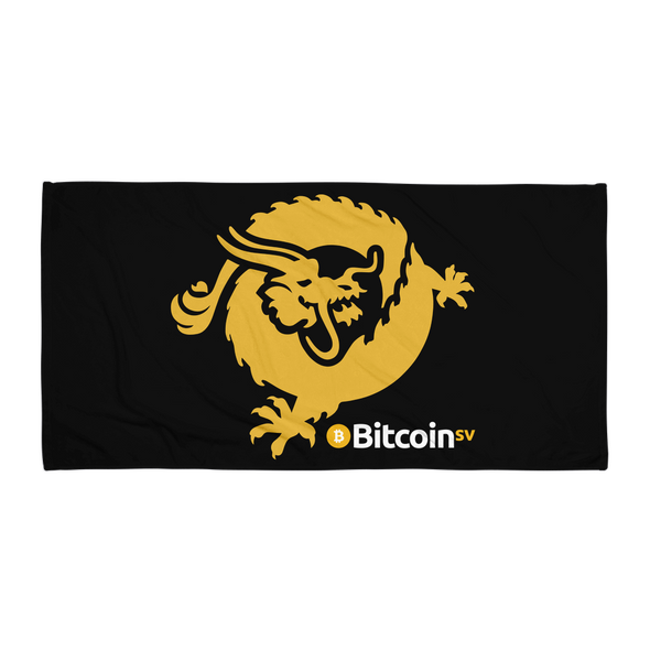 Bitcoin SV Dragon Beach Towel Black Default Title  - zeroconfs