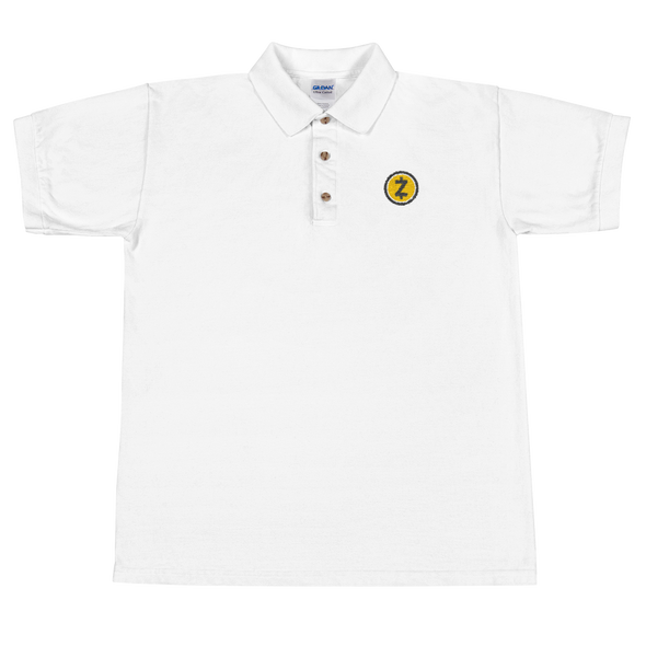 Zcash Embroidered Polo Shirt White S - zeroconfs
