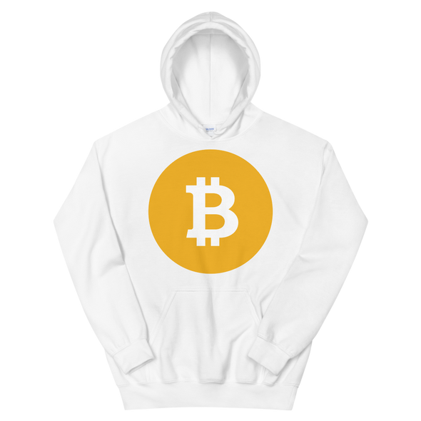 Bitcoin SV Logo Hooded Sweatshirt White S - zeroconfs