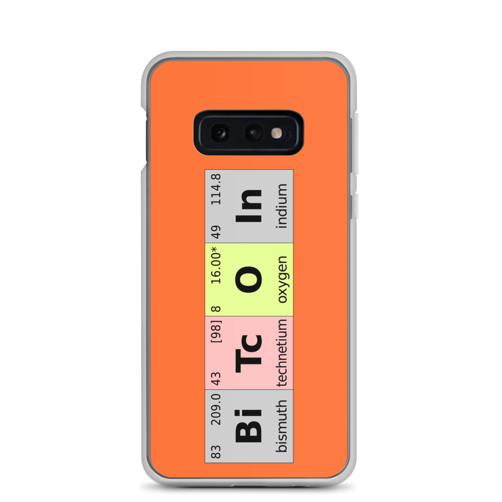 Bitcoin Periodic Table Samsung Case Samsung Galaxy S10e  - zeroconfs