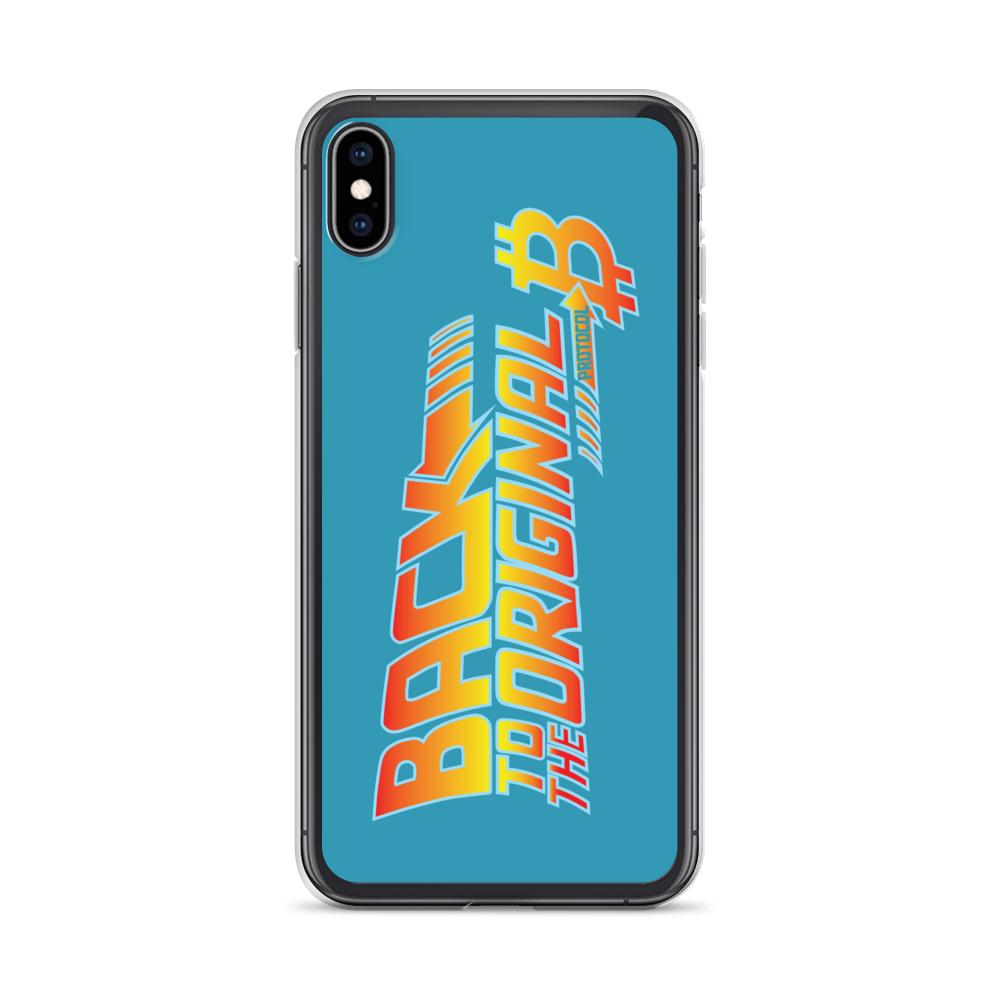 Back To The Original Bitcoin Protocol iPhone Case Blue iPhone XS Max  - zeroconfs