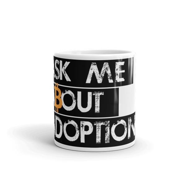 Ask Me About Adoption Bitcoin Coffee Mug   - zeroconfs