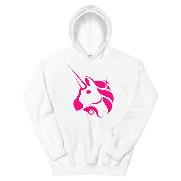 Uniswap Unicorn Women's Hooded Sweatshirt White S - zeroconfs
