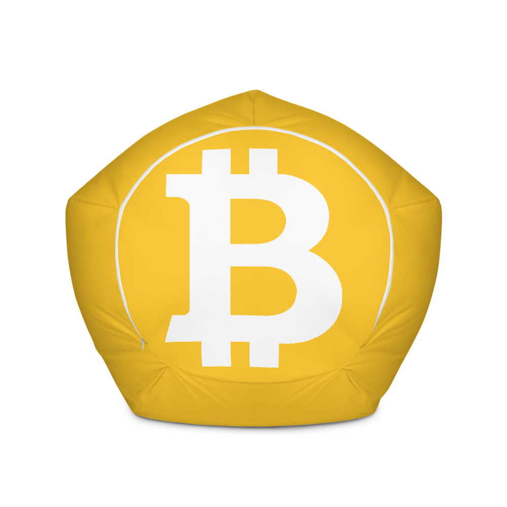 Bitcoin SV Yellow Bean Bag Cover Only   - zeroconfs