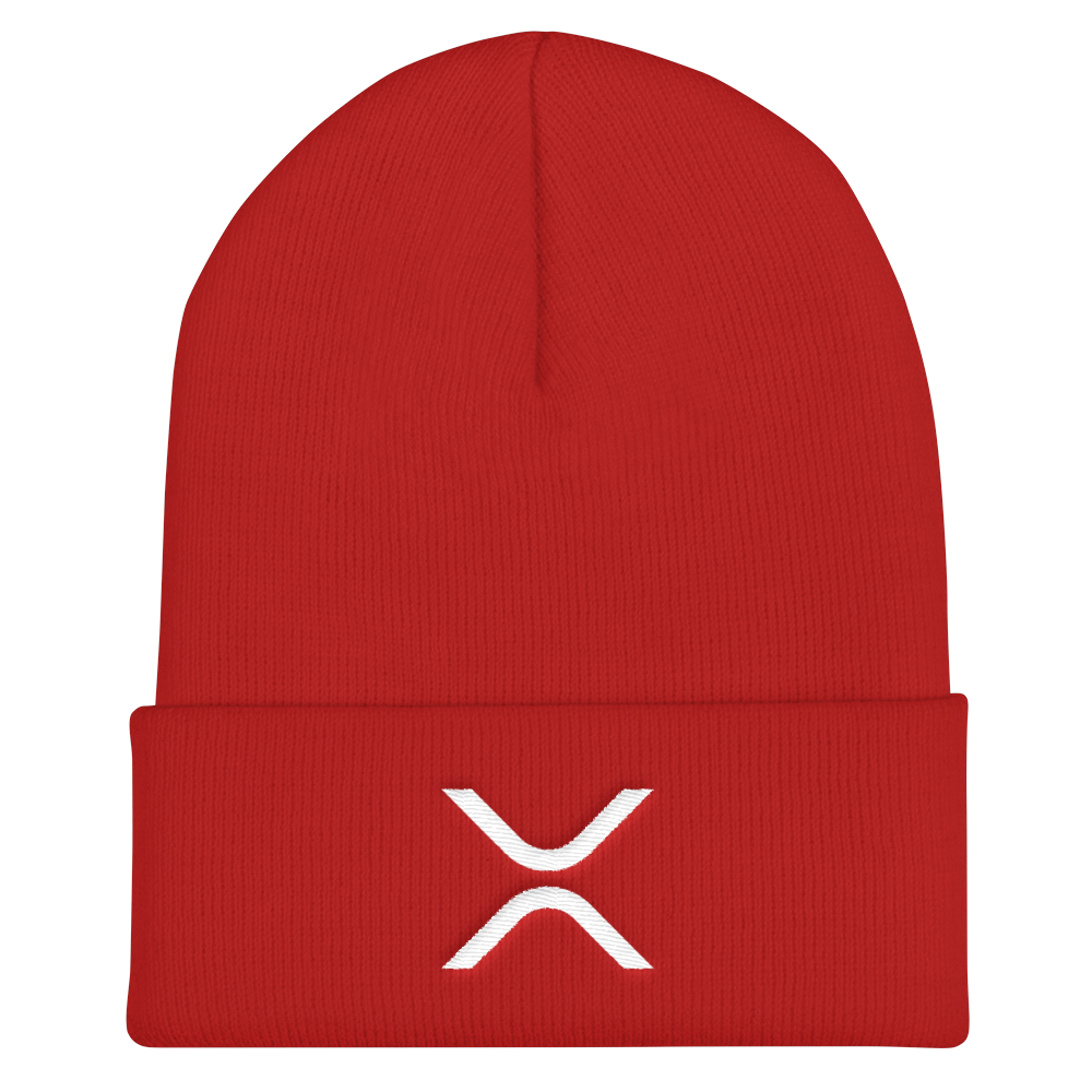 Ripple Cuffed Beanie Red  - zeroconfs