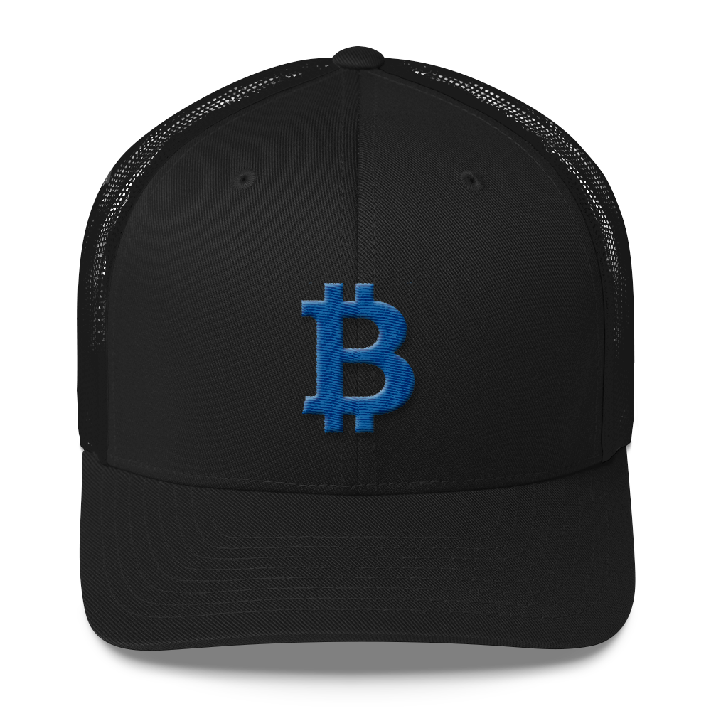 Bitcoin B Trucker Cap Blue Black  - zeroconfs
