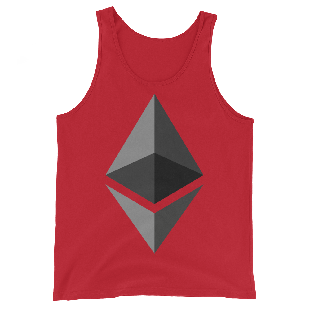 Ethereum Tank Top Red XS - zeroconfs