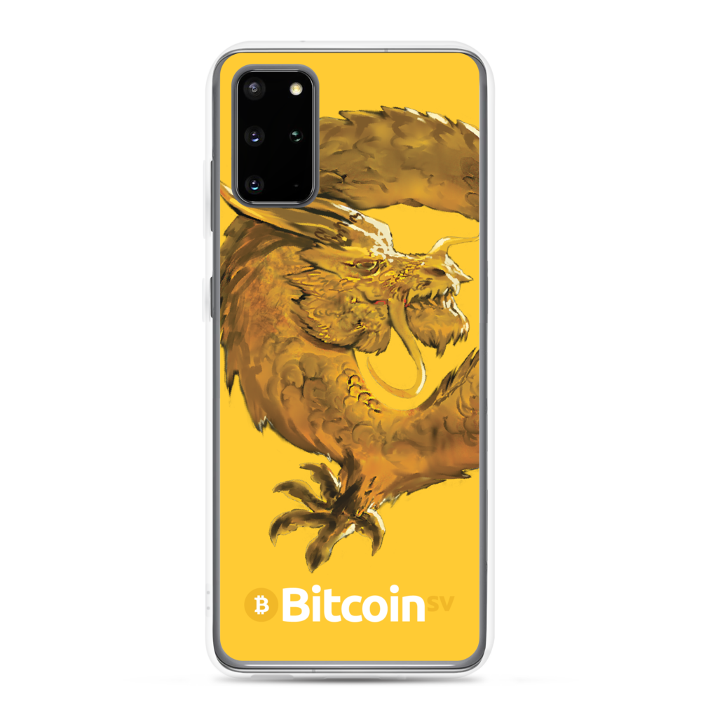 Bitcoin SV Woken Dragon Samsung Case Yellow Samsung Galaxy S20 Plus  - zeroconfs