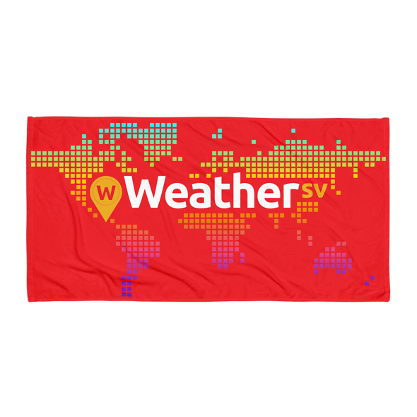 Weather SV Beach Towel Red Default Title  - zeroconfs