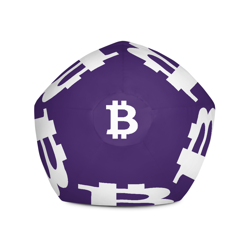Bitcoin SV Purple Bean Bag Cover Only   - zeroconfs