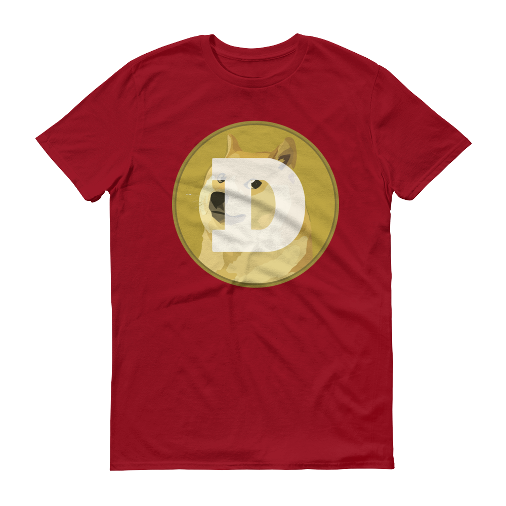 Dogecoin Short-Sleeve T-Shirt Independence Red S - zeroconfs
