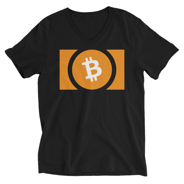 Bitcoin Cash V-Neck T-Shirt Black S - zeroconfs