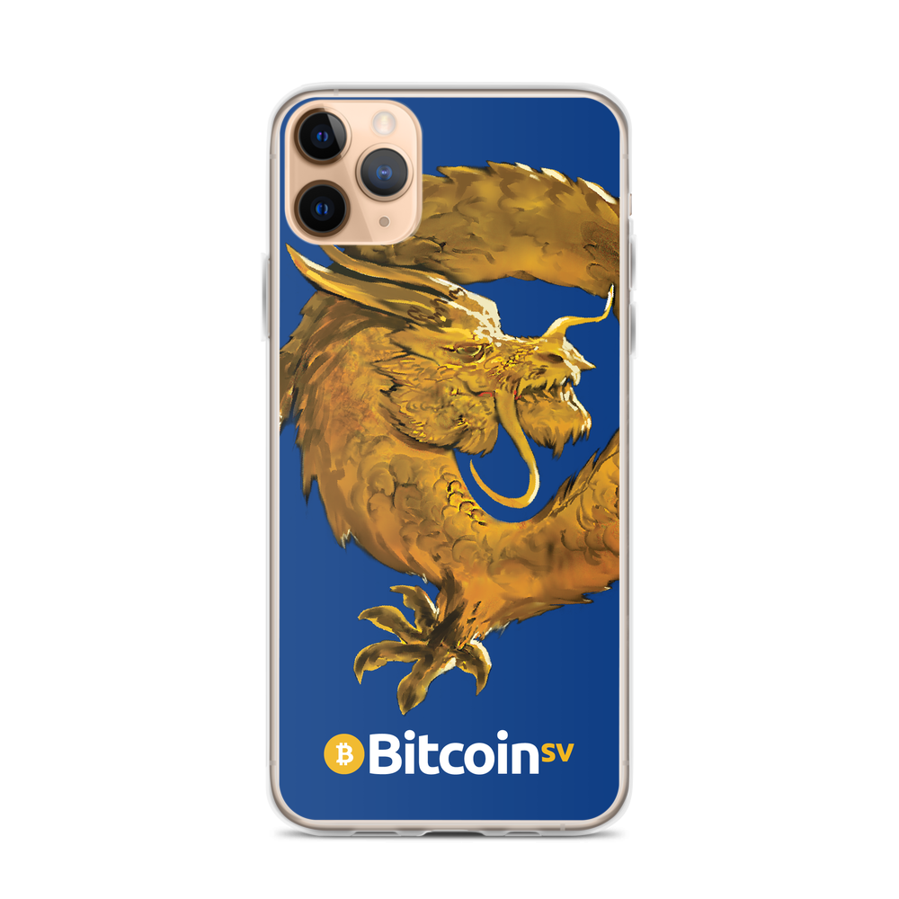 Bitcoin SV Woken Dragon iPhone Case Navy iPhone 11 Pro Max  - zeroconfs