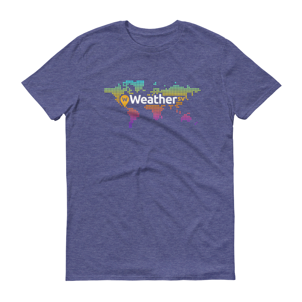 Weather SV Short-Sleeve T-Shirt Heather Blue S - zeroconfs
